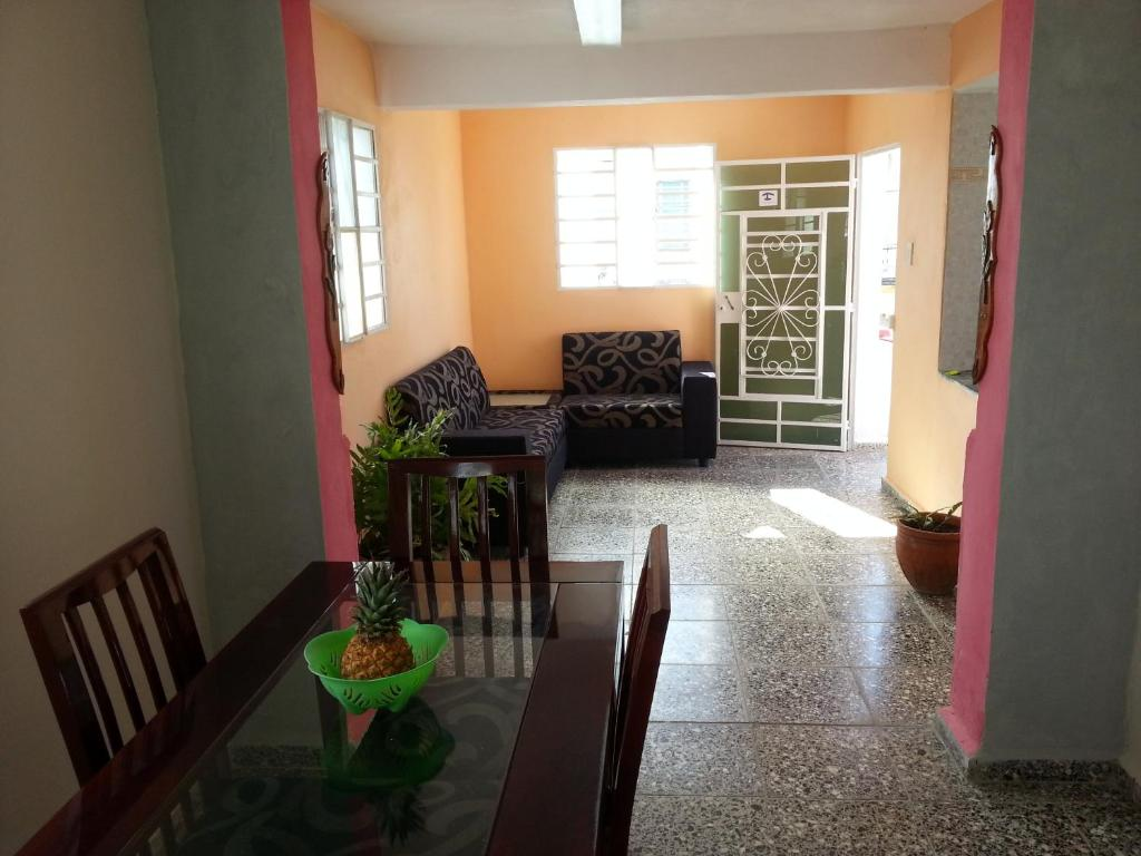 A seating area at Homestay Libertad