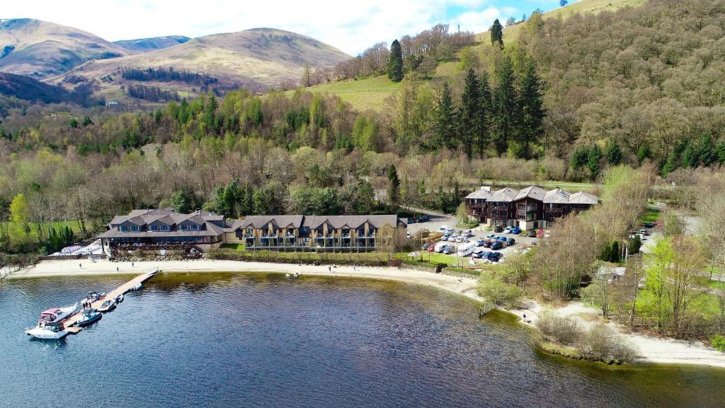 A bird's-eye view of The Lodge On Loch Lomond Hotel