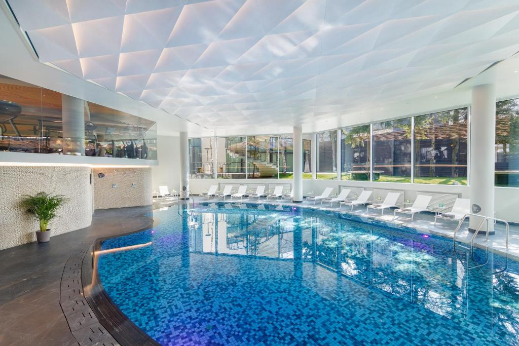 The swimming pool at or near Crowne Plaza Bucharest