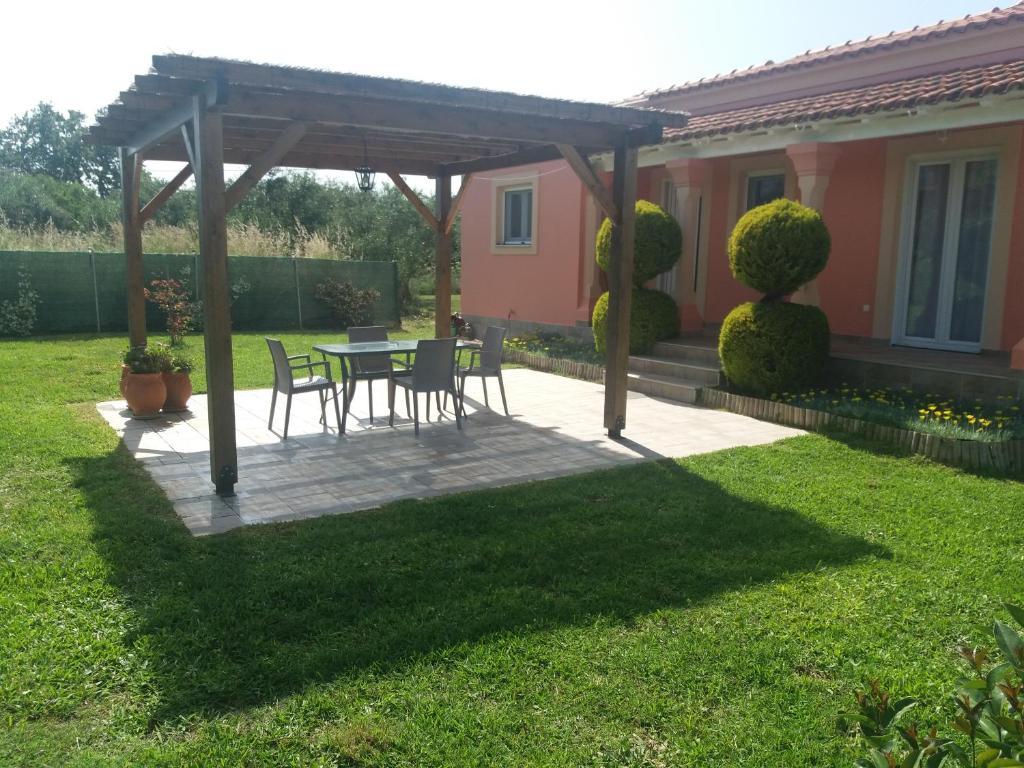 A garden outside Villa Katerina