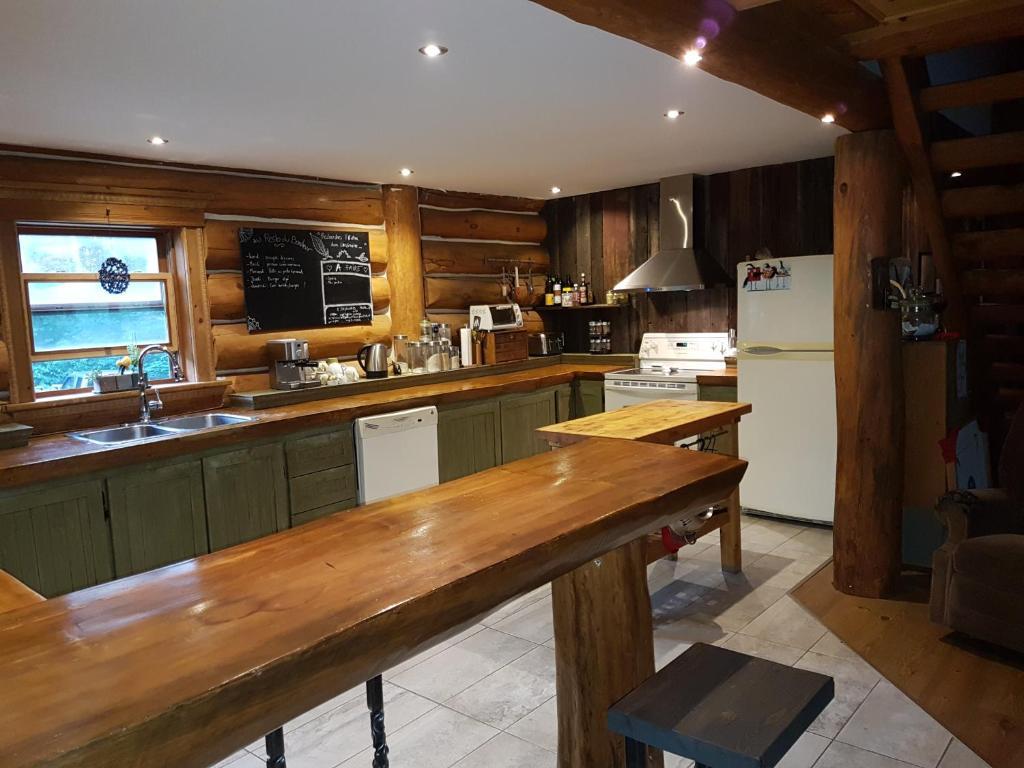 magnifique chalet en bois rond, Eastman, Canada - Booking.com