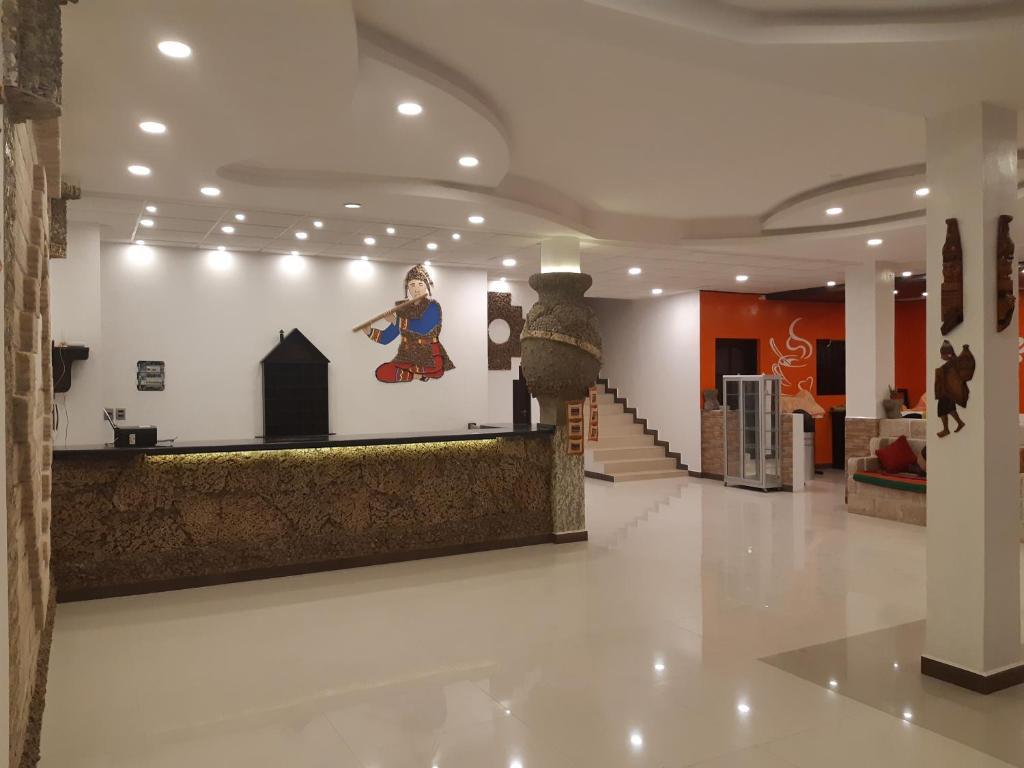The lobby or reception area at Cristales Joyas De Sal