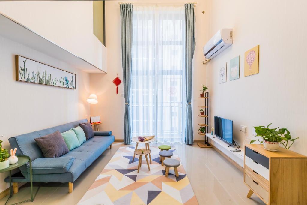 Гостиная зона в 千灯湖/金融高新区loft 公寓