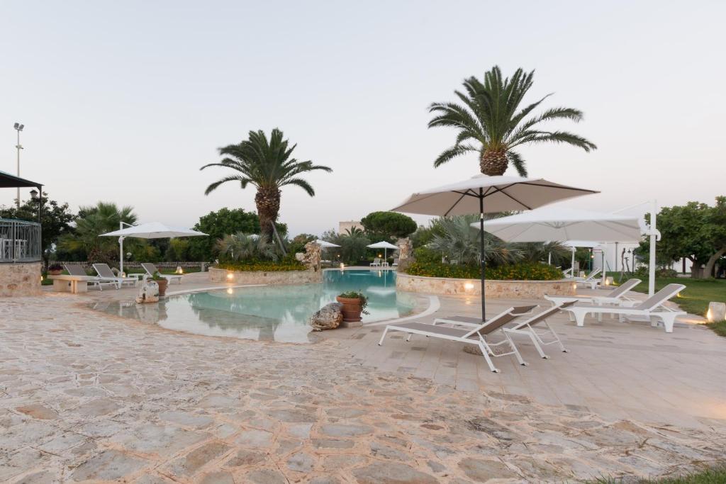 The swimming pool at or near Masseria Valente