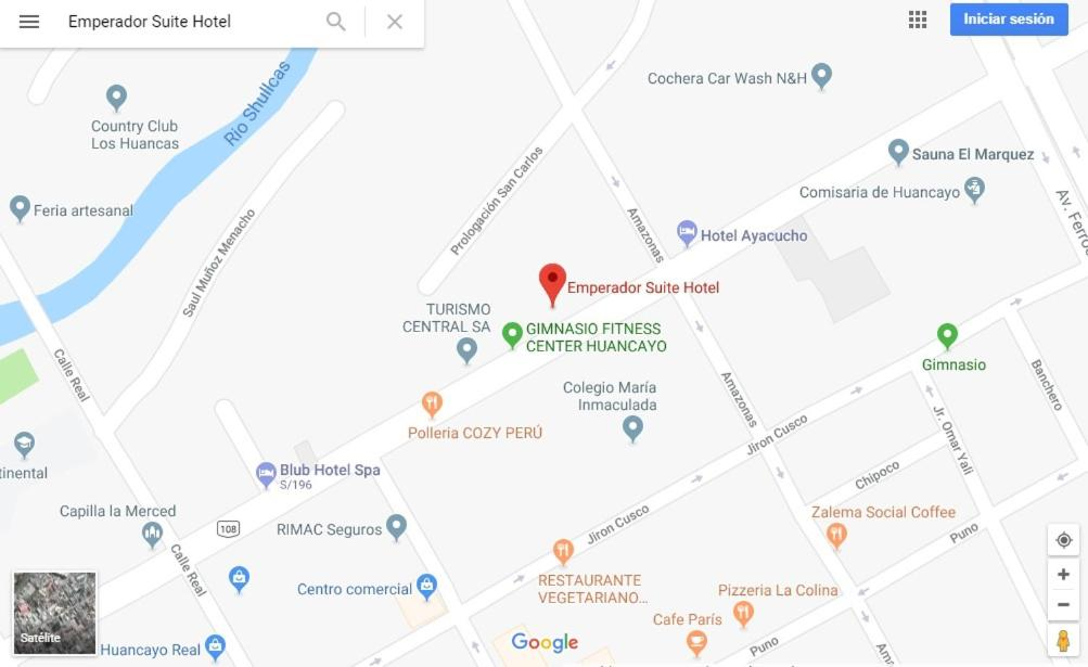 Huancayo Peru Map.Hotel Emperador Suite Huancayo Peru Booking Com