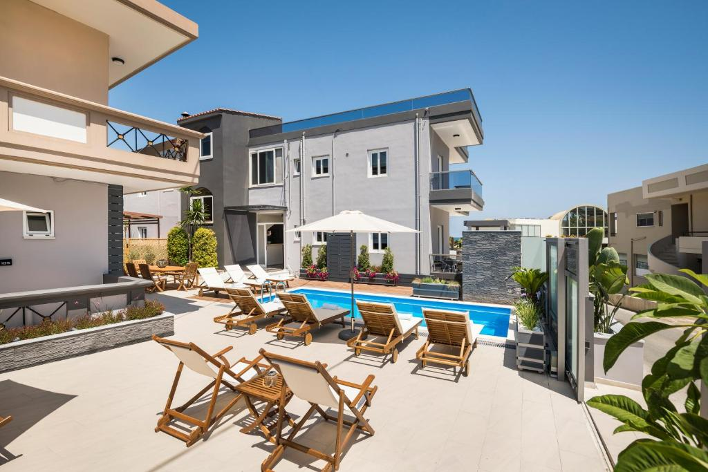 The swimming pool at or near Sun Ray Luxury Apartments (Adults Only)