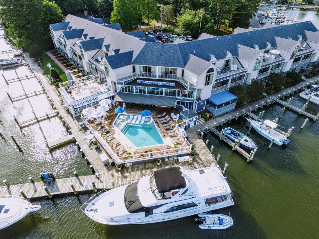 A bird's-eye view of St Michaels Harbour Inn, Marina and Spa