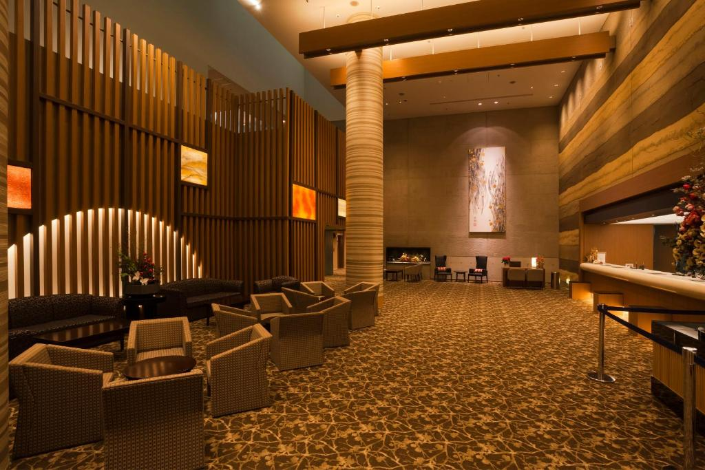 The lobby or reception area at Hotel Appi Grand