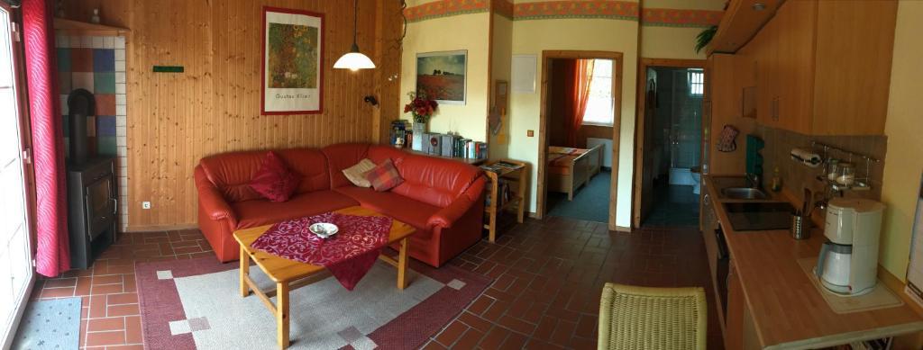 Χώρος καθιστικού στο Ferienhaus Henriettenhof