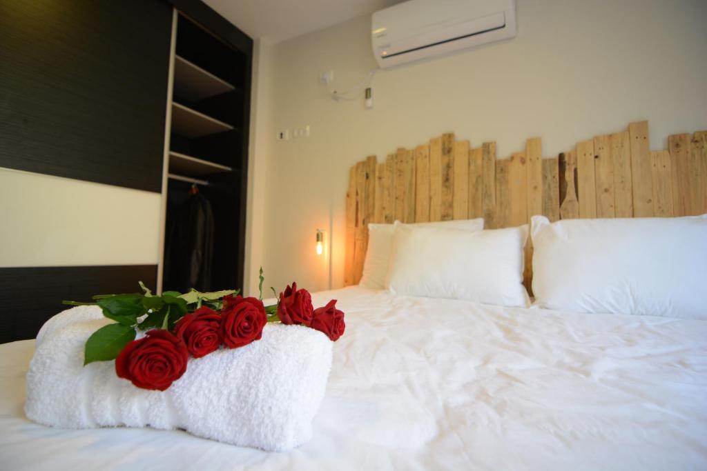 Ein Bett oder Betten in einem Zimmer der Unterkunft Luna BaNeguev
