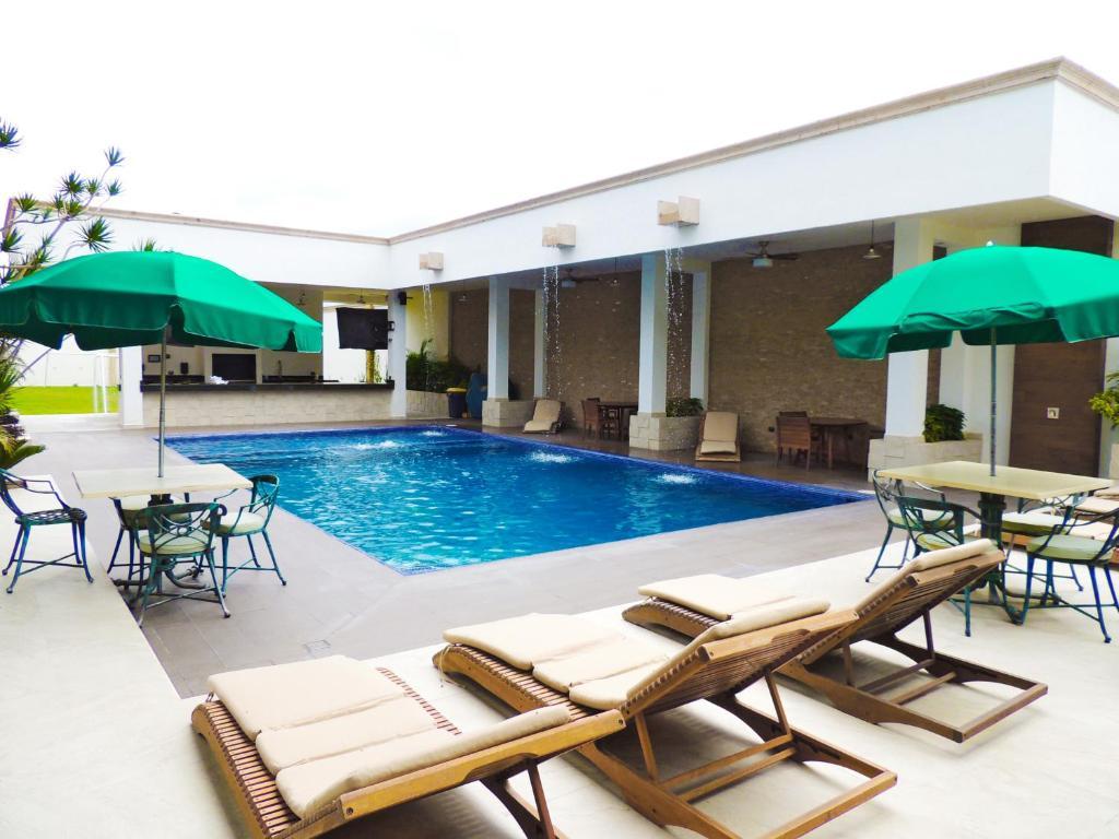 The swimming pool at or near Royal Aqua
