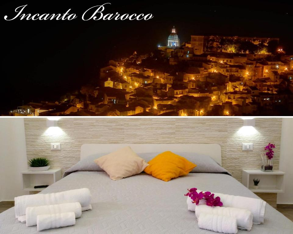 A bed or beds in a room at Incanto barocco