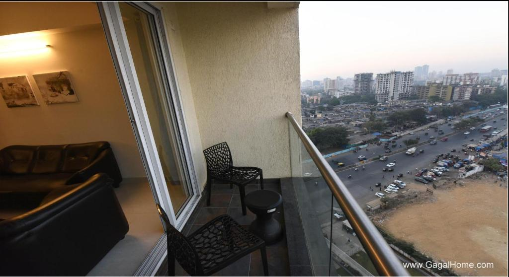 A balcony or terrace at 2 BHK Service apartment in Borivali/kandivali east