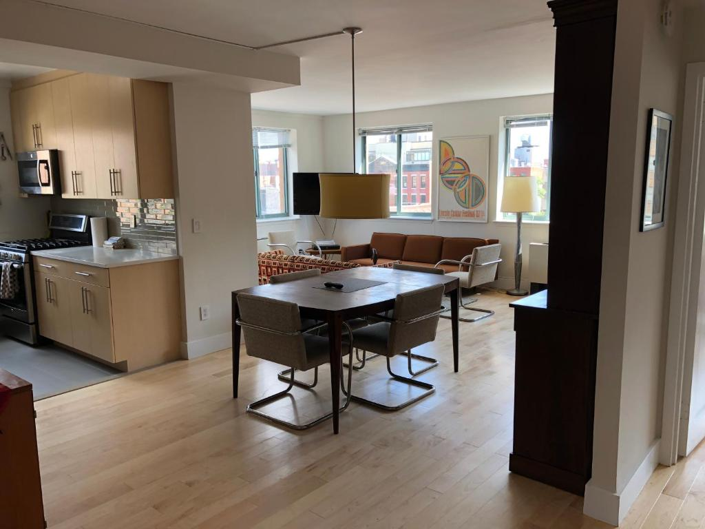 A kitchen or kitchenette at Gorgeous Two Bedroom, Two Bath West Village Apartment