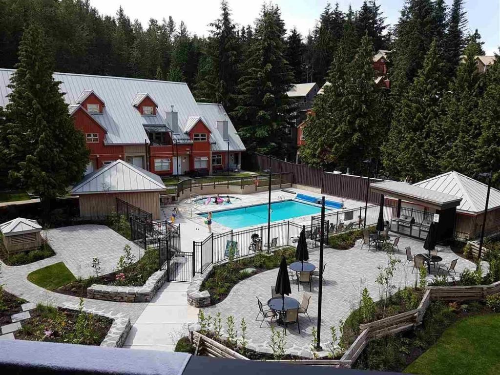 A view of the pool at Lake Placid Lodge by Whistler Vacation Club or nearby