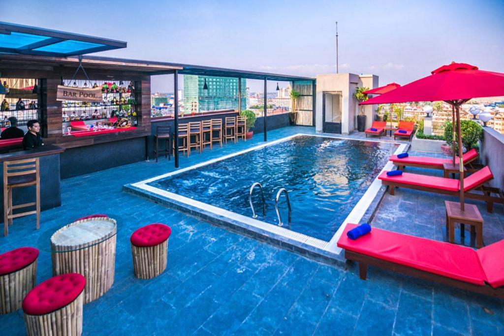 The swimming pool at or near Diamond Palace Resort & Sky Bar