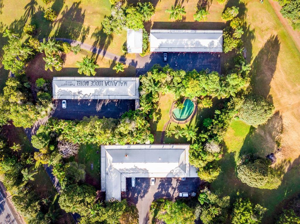 A bird's-eye view of Malanda Lodge Motel