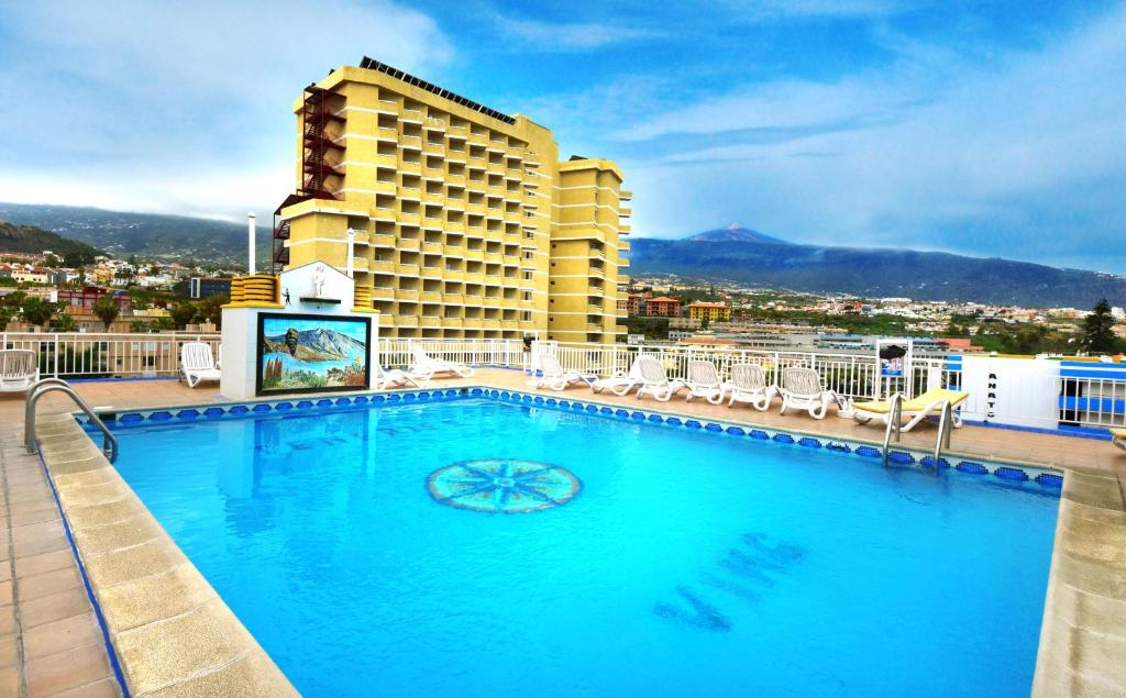 The swimming pool at or near Tenerife Ving