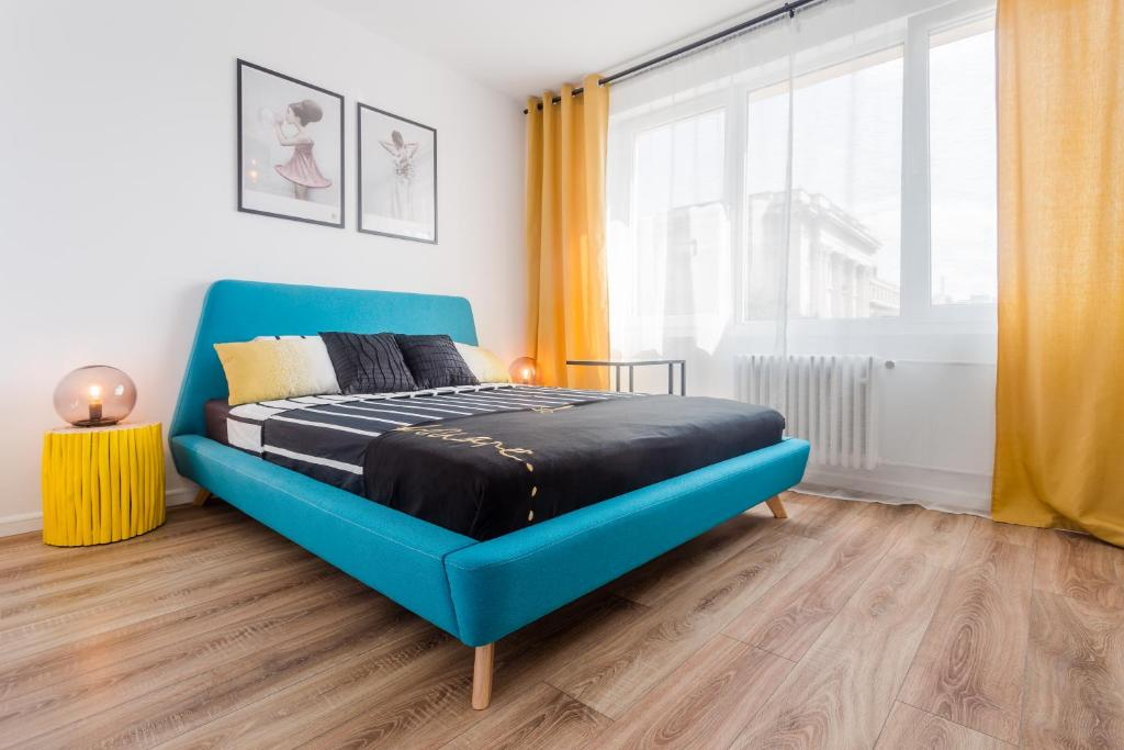 A bed or beds in a room at Nordic City Center 2 Rooms Luxury Apartment
