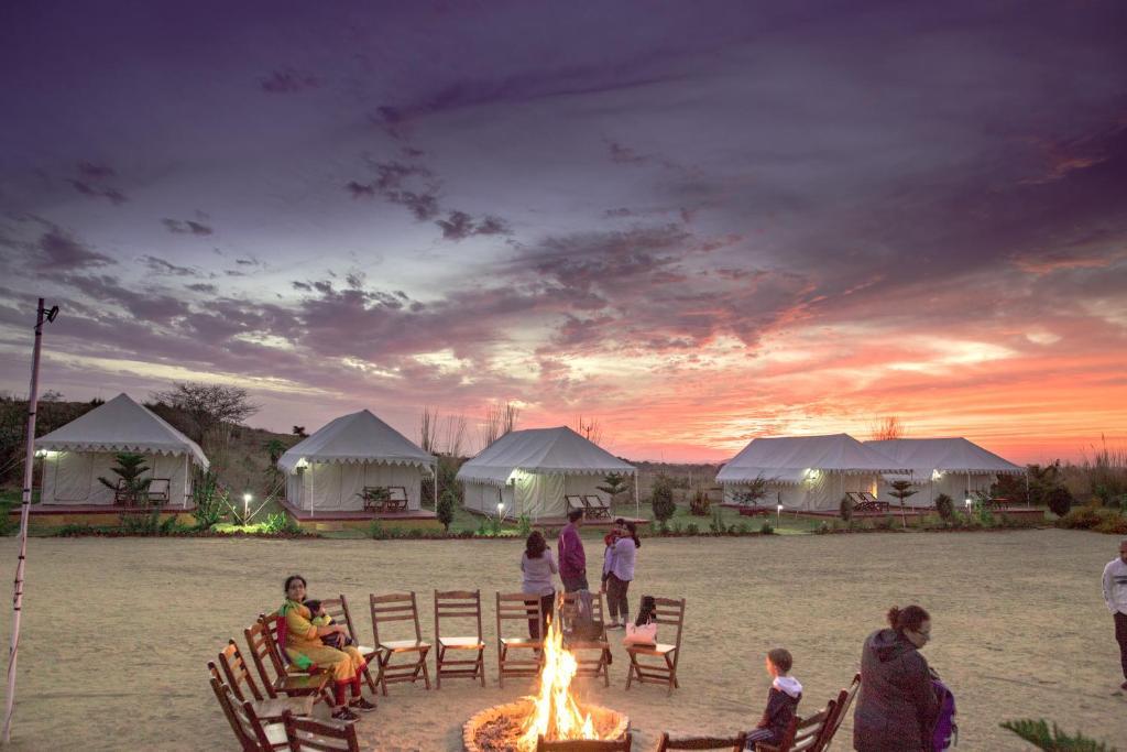 Image result for Camping in the desert of Pushkar