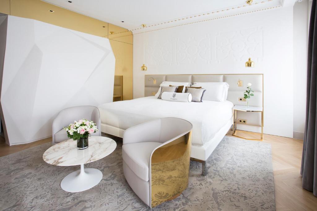 Cama o camas de una habitación en Hotel Bowmann