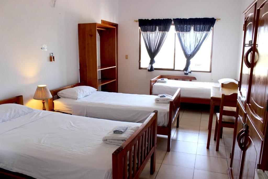 Postelja oz. postelje v sobi nastanitve Galapagos Best Hostel