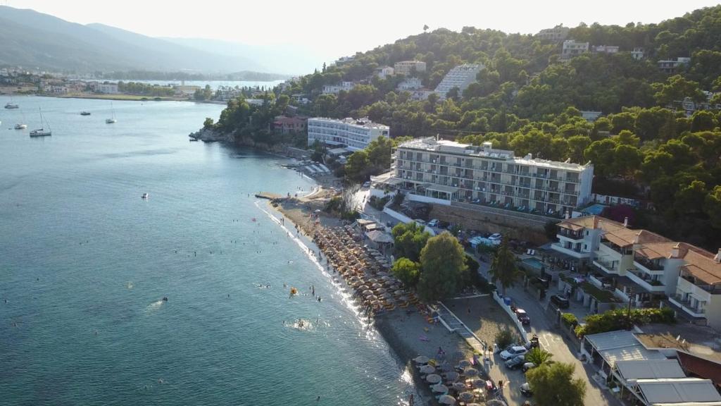 A bird's-eye view of New Aegli Resort Hotel