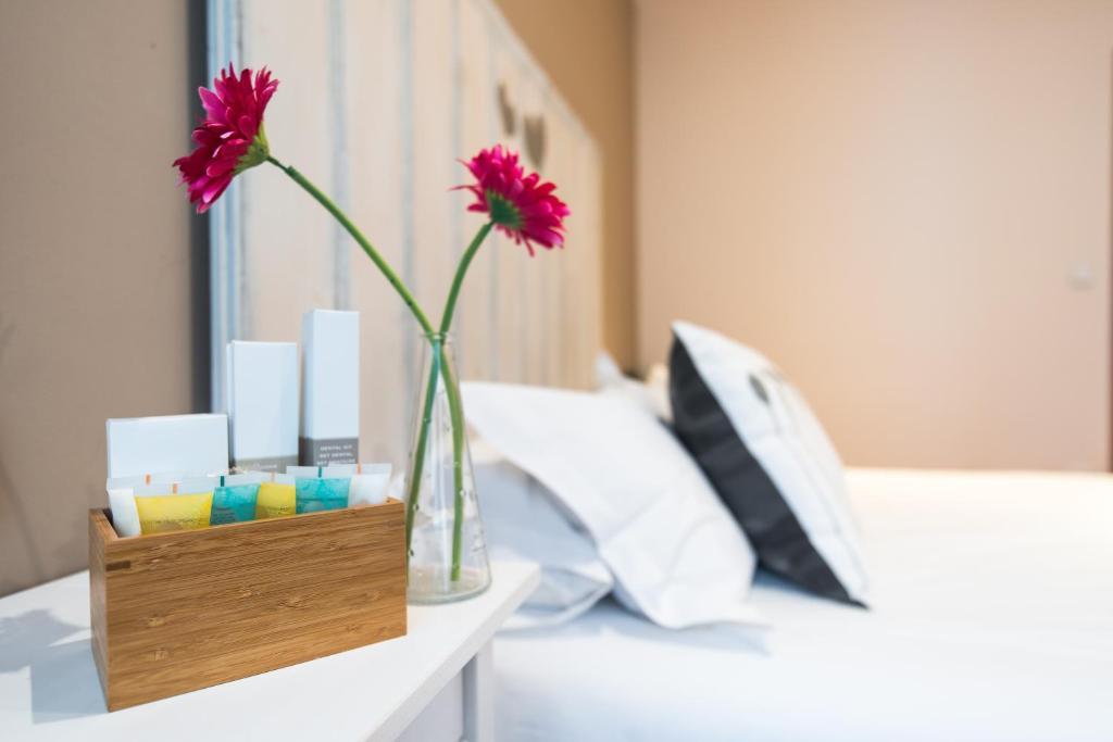 Un pat sau paturi într-o cameră la 7 Kale Bed and Breakfast