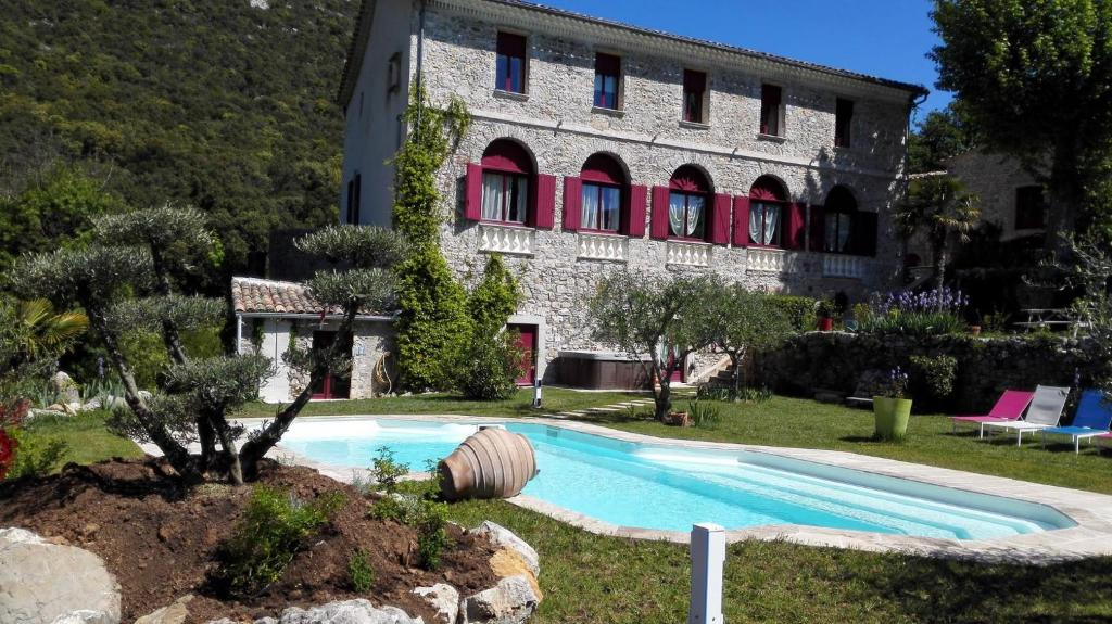 The swimming pool at or near Domaine de Rochebelle