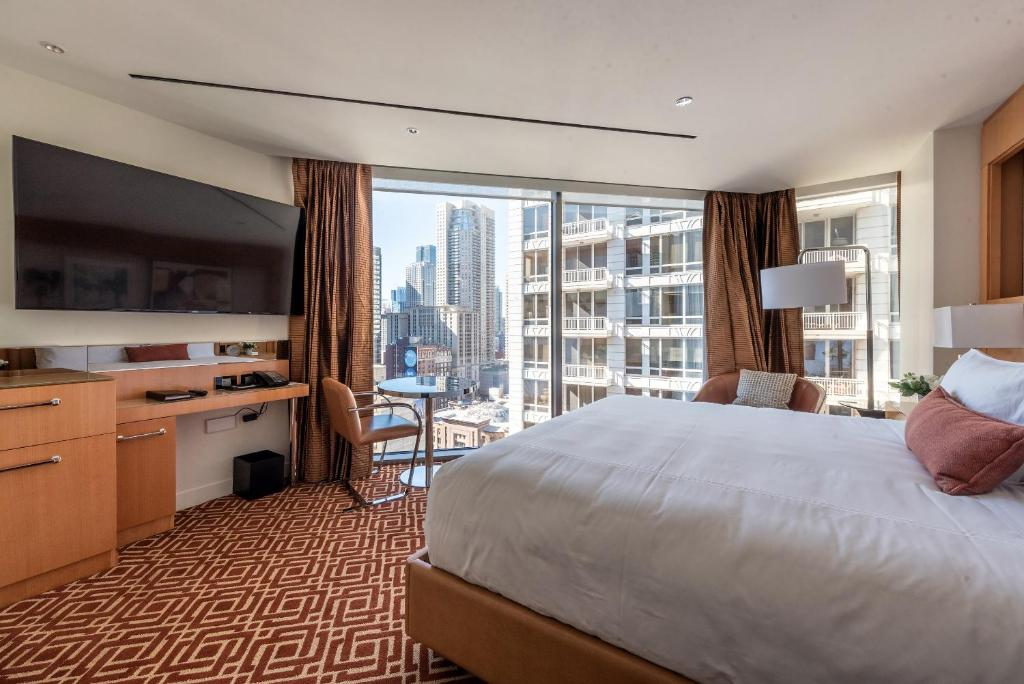 A room at the Conrad Chicago.