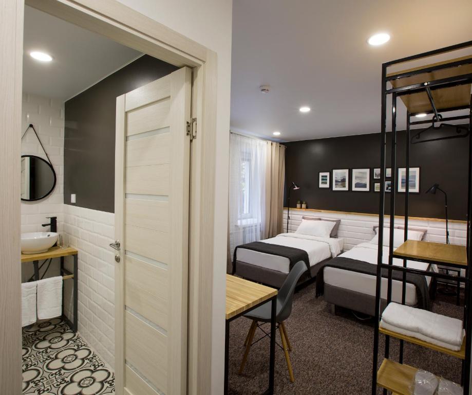 Кровать или кровати в номере History hotel