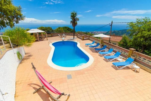 A view of the pool at Calella Villa Sleeps 8 Pool WiFi or nearby