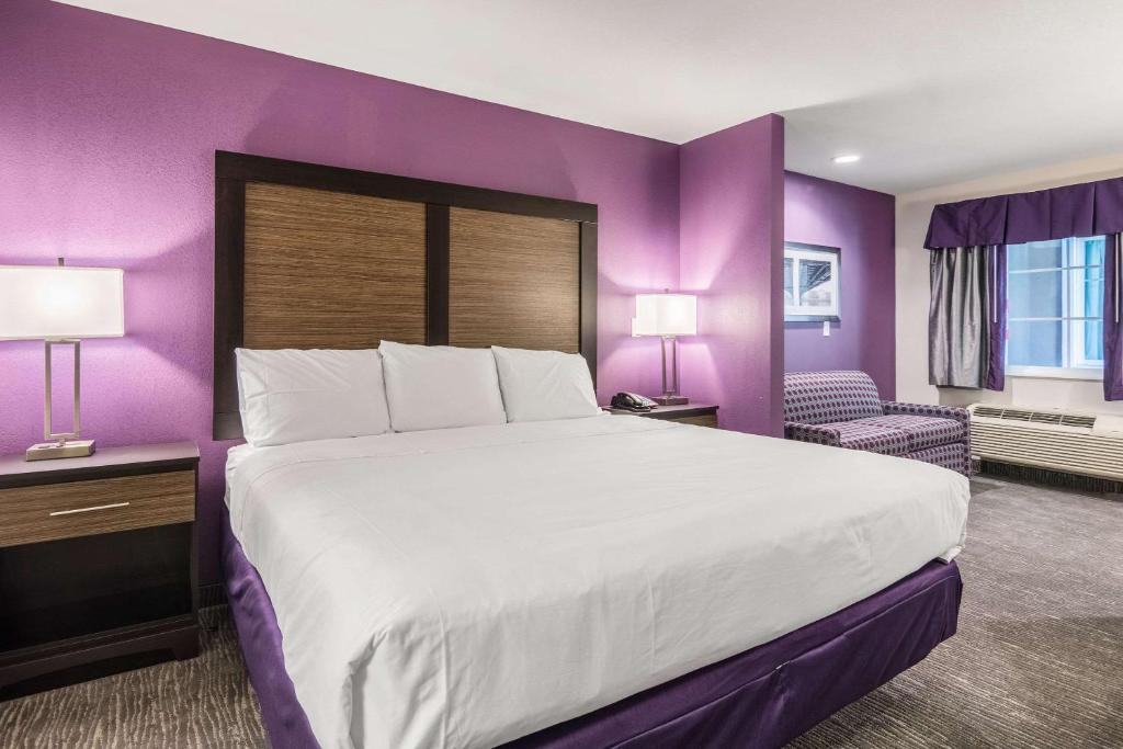 A bed or beds in a room at Econo Lodge Inn & Suites North Little Rock