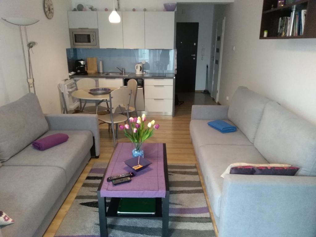 A seating area at Apartament Morskie Polanki