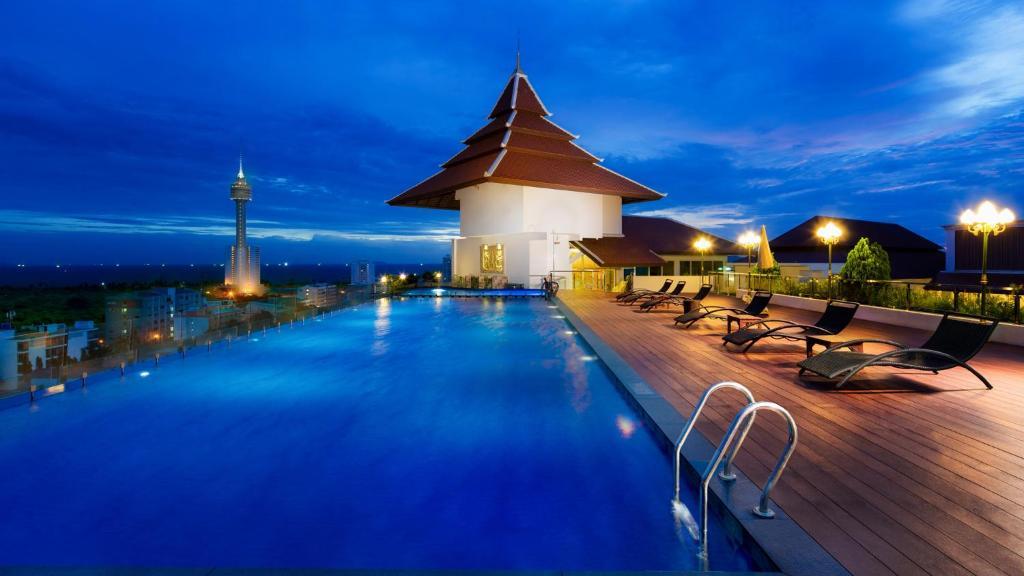 The swimming pool at or near Aiyara Grand Hotel