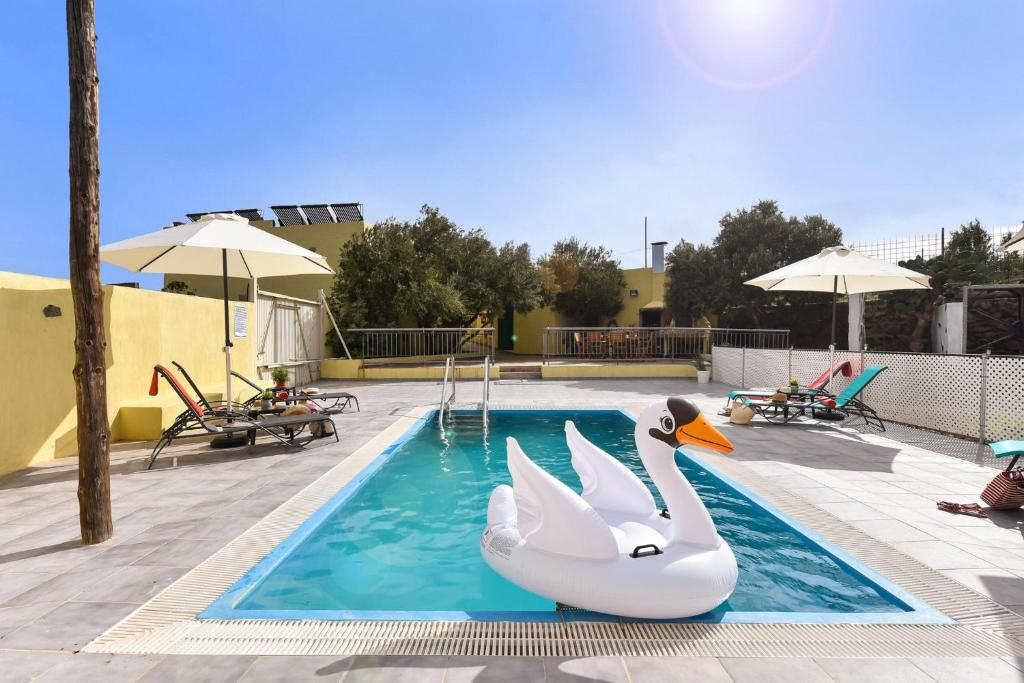 The swimming pool at or near Los Algodones Cottage with Pool