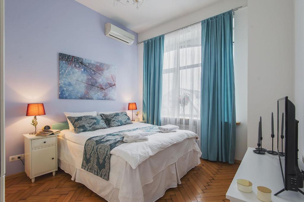 GMApartments Tverskay, 6/5にあるベッド
