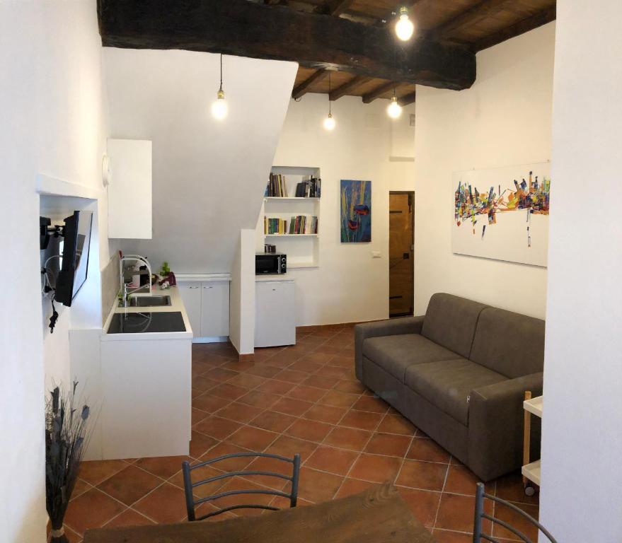 A seating area at La Casina dei G