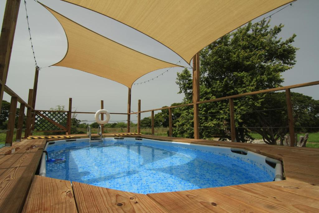 The swimming pool at or near Pitahaya Glamping