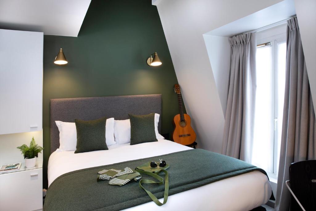 Cama o camas de una habitación en Hotel Brady - Gare de l'Est