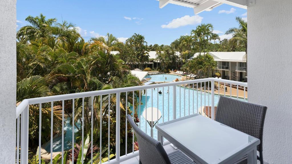 A balcony or terrace at Oaks Resort Port Douglas