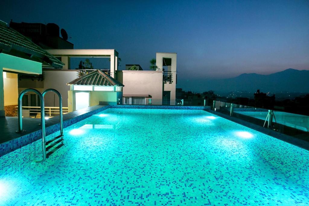 The swimming pool at or near Beautiful Kathmandu Hotel