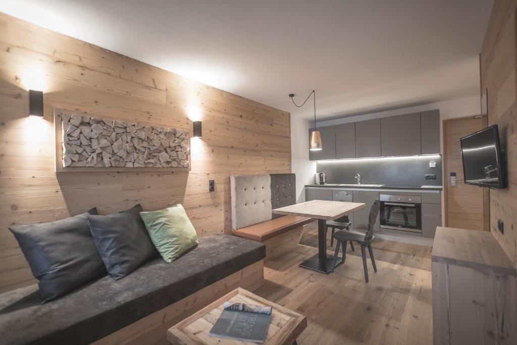 Posezení v ubytování Ahrner Wirt Apartments