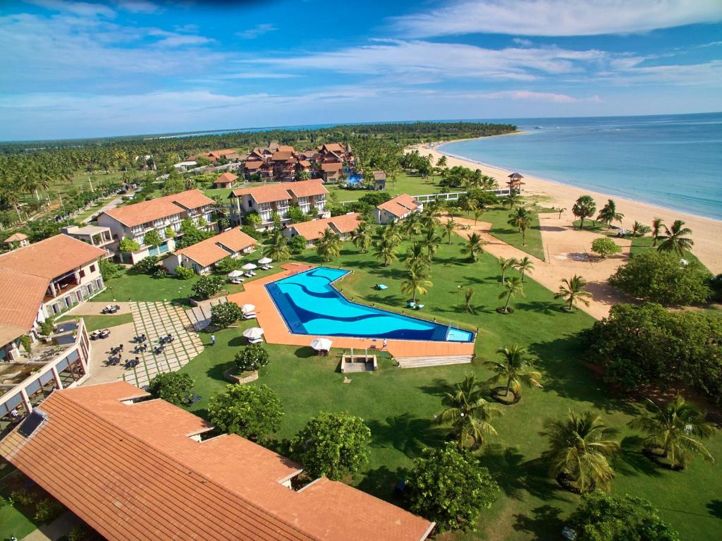 A bird's-eye view of The Calm Resort & Spa