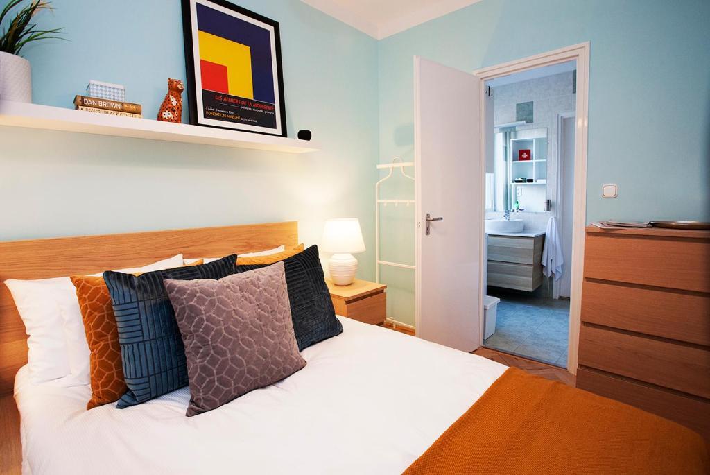 Krevet ili kreveti u jedinici u objektu Apartman V50