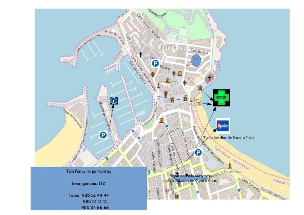 Gijon Spain Map.Un Pisin En Cimavilla Gijon Spain Booking Com