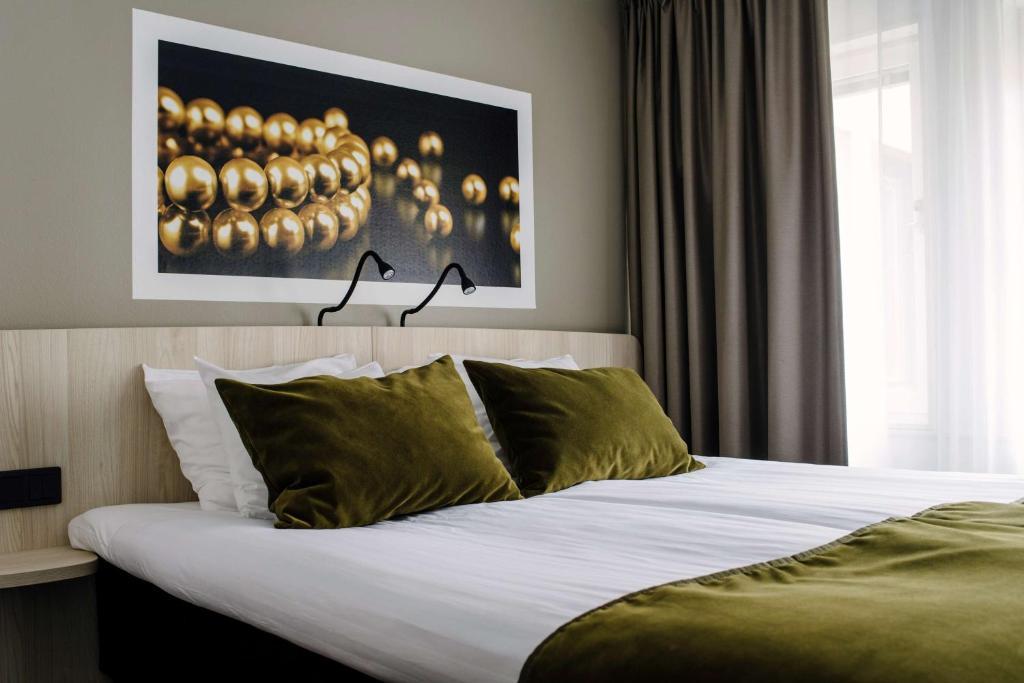 Säng eller sängar i ett rum på Best Western Hotel Svava