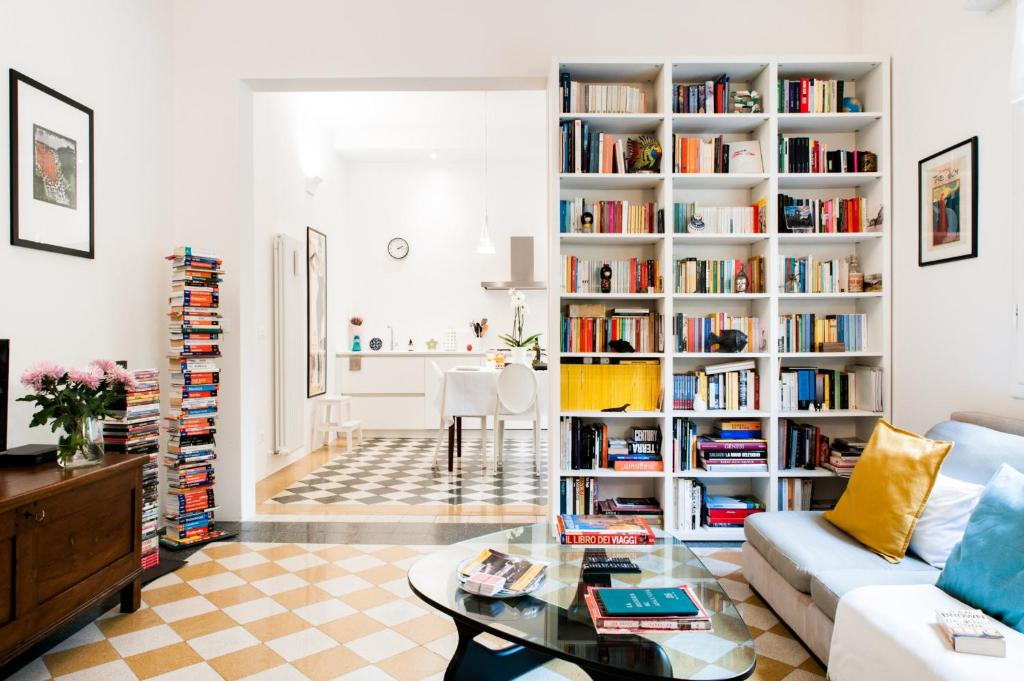 Die Bibliothek im Bed & Breakfast