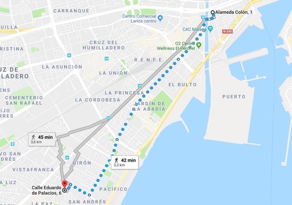 Map Of Spain Showing Malaga.Apartment Palacios Malaga Spain Booking Com