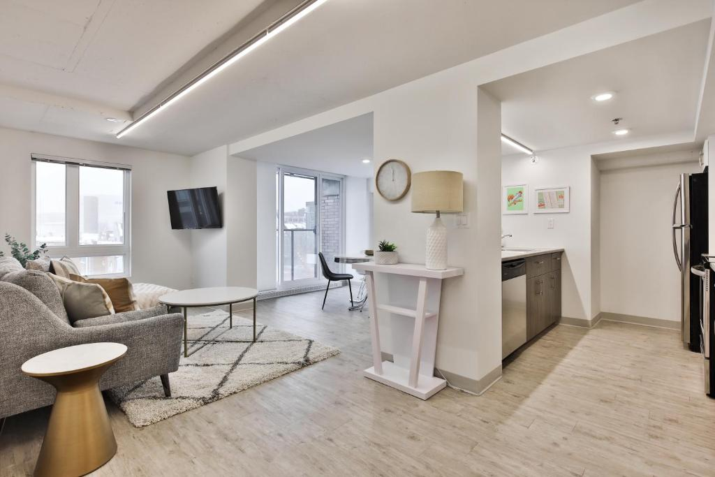 Coin salon dans l'établissement Berri Furnished Apartments by Top Stays